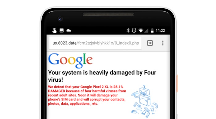 Fausse Publicite Virus Mobile