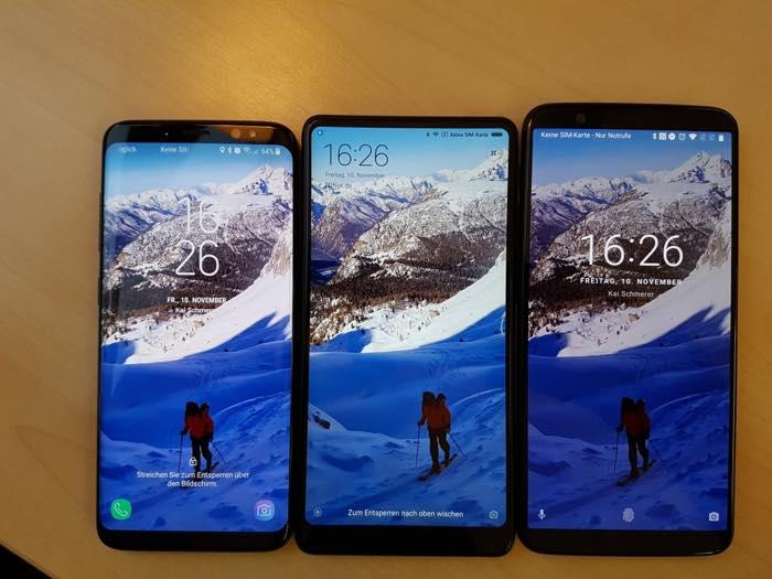 Galaxy S8 Vs Mi Mix 2 Vs OnePlus 5T