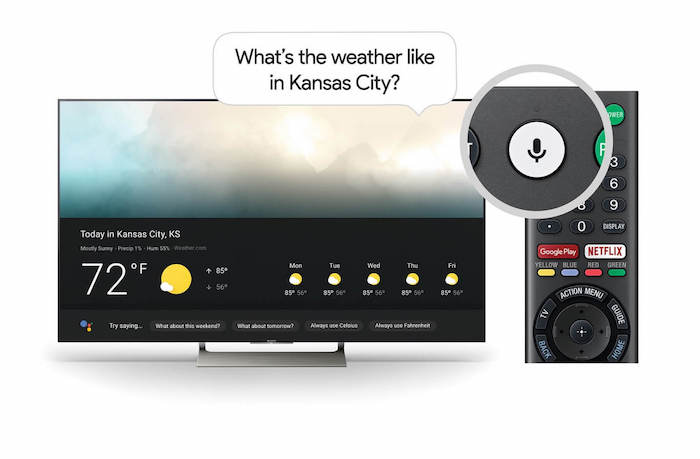 Google Assistant TV Sony Android TV