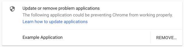 Google Chrome Alerte Injection Code Logiciel Tiers