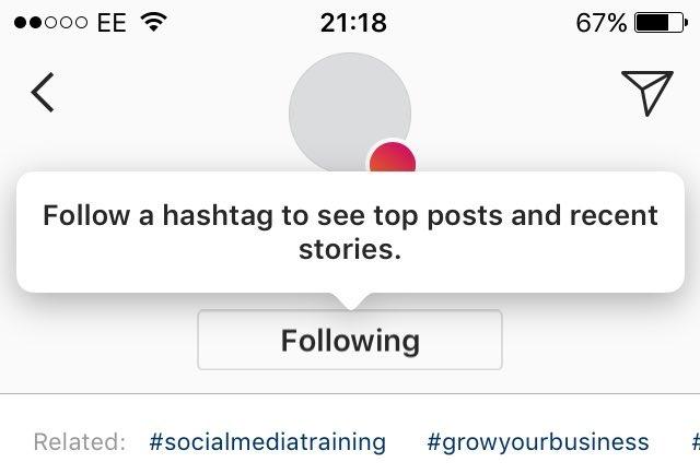 Instagram Suivre Hashtag