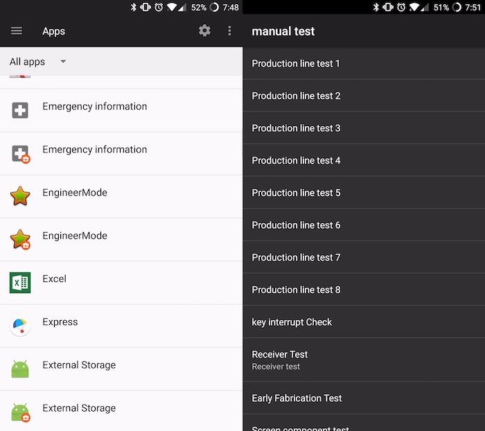 OnePlus EngineerMode Application