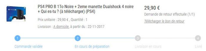 PlayStation 4 Pro Erreur Prix Leclerc