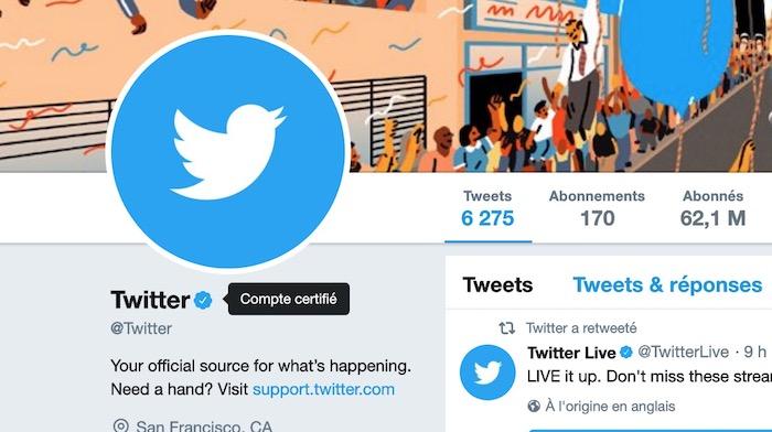 Twitter Exemple Compte Verifie