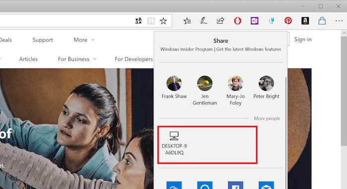 Windows 10 Envoi Fichier Bluetooth Near Share