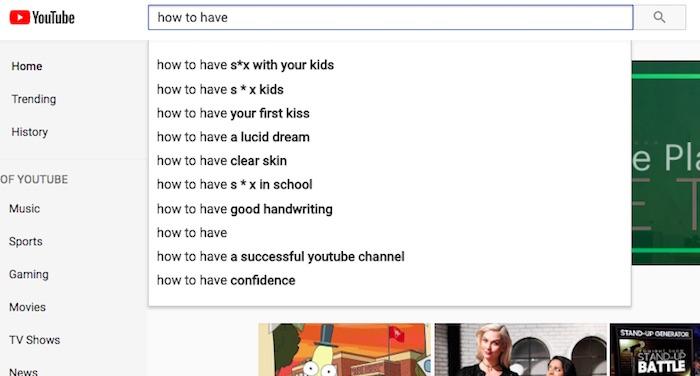 YouTube Suggestion Relations Sexuelles Enfants