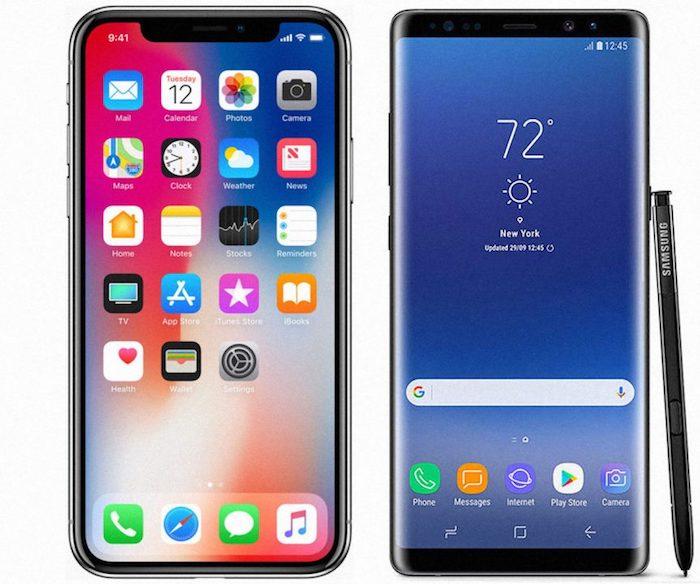 IPhone X Vs Galaxy Note 8 863x720