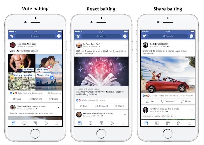 Facebook Engagement Bait Reclame Jaime