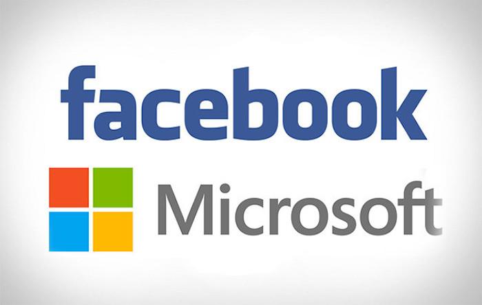Facebook Microsoft Logos