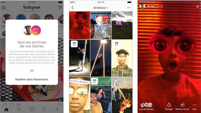 Instagram Archivage Des Stories