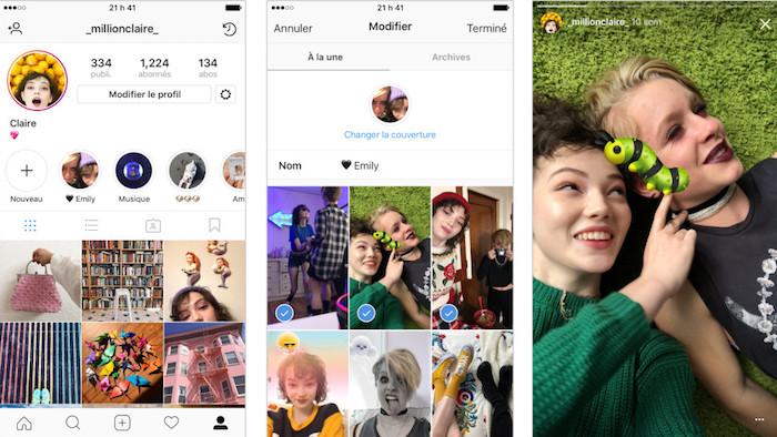 Instagram Stories A La Une