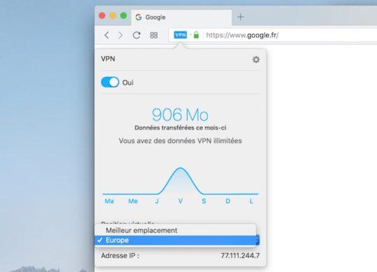 Opera 50 Beta VPN Regions