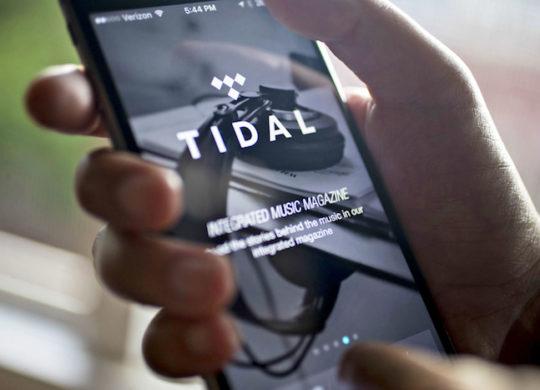 Tidal Application iPhone