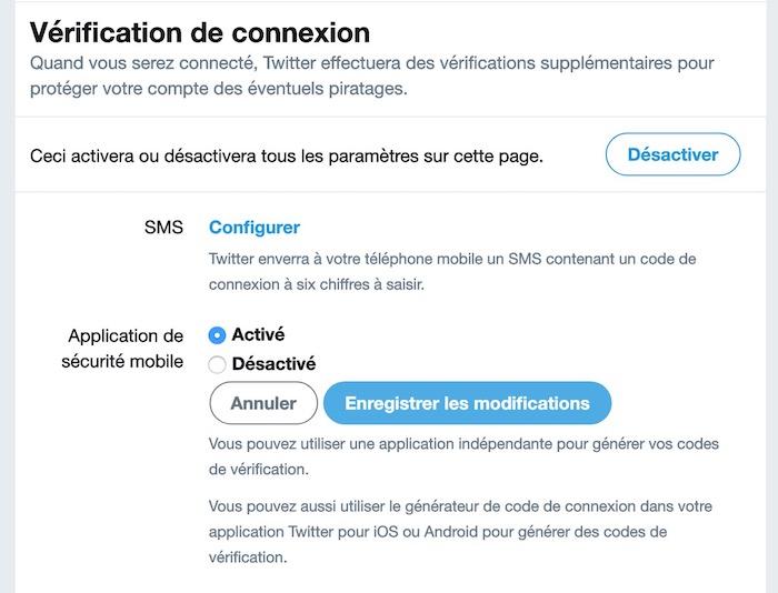 Twitter Verification Deux Etapes Application