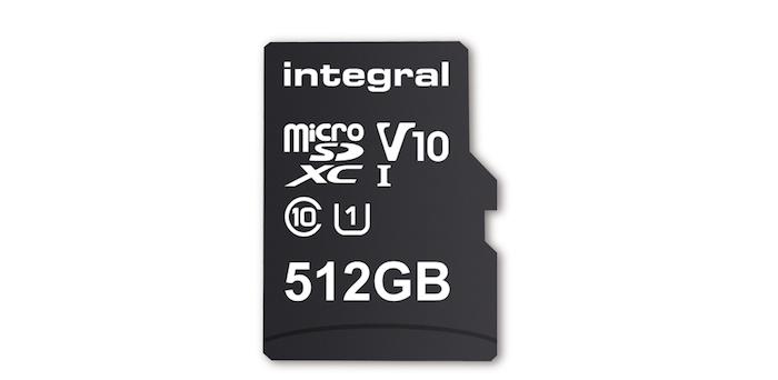 Carte MicroSD 512 Go Integral Memory