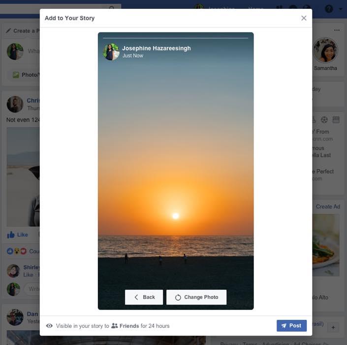 Envoi Facebook Stories Depuis Ordinateur 2
