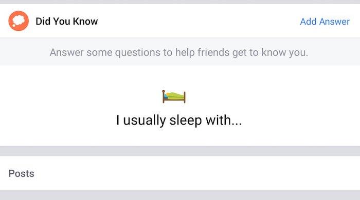 Facebook Question Coucher