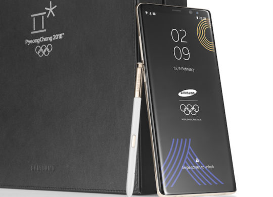 Galaxy Note 8 Edition Speciale Jeux Olympiques Hiver 2018