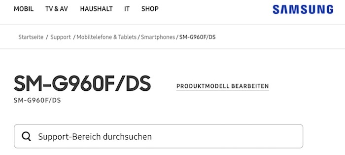 Galaxy S9 Double SIM Site Samsung Allemand