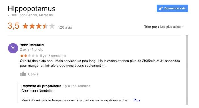 Google Avis Internautes