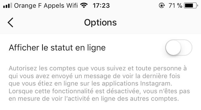 Instagram Desactiver Statut En Ligne