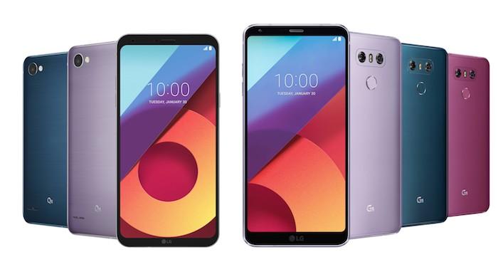 LG G6 Et LG Q6 Nouveaux Coloris