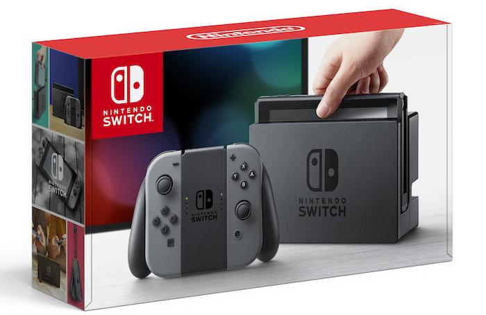 Nintendo Switch Gris Boite