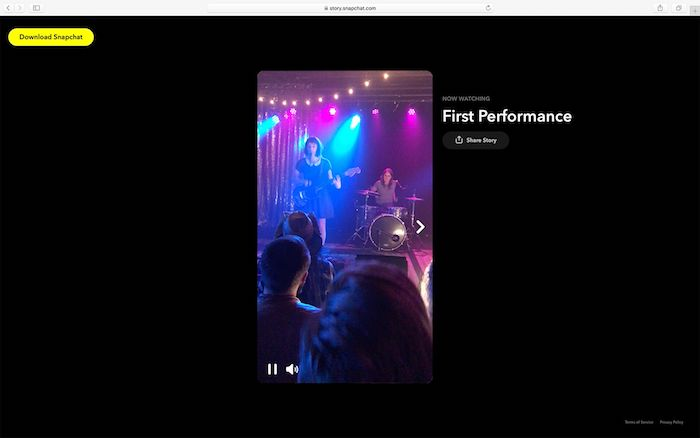Snapchat Story Visible Depuis Navigateur