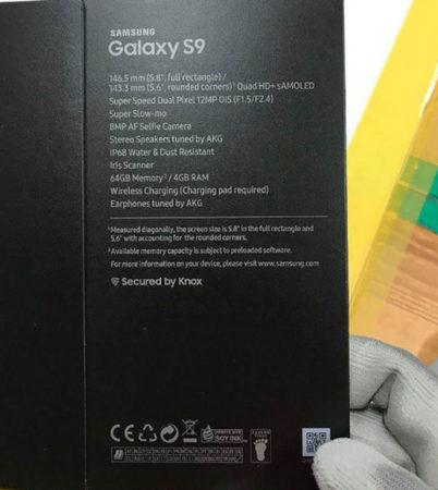 Boite Galaxy S9 640x715 402x450