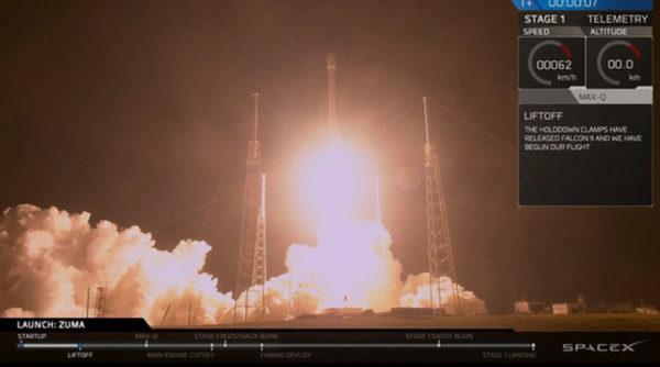 SpaceX Zuma 600x334