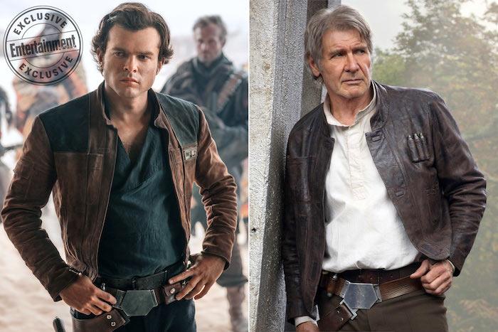 Alden Ehrenreich Harrison Ford Han Solo