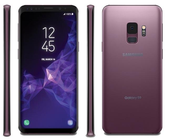 Galaxy S9 Avant Arriere Cote Violet