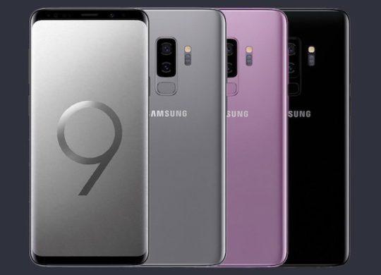 Galaxy S9 Plus Arriere Avant Gris Noir Violet