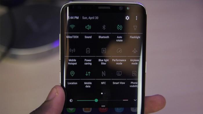 Mode Sombre Galaxy S8