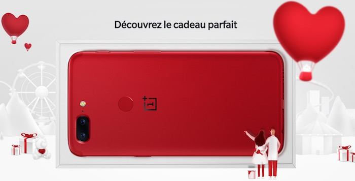 OnePlus 5T Rouge