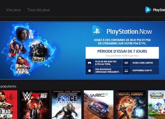 PlayStation Now Nouvelle Interface Fevrier 2018