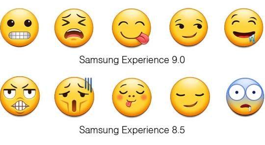 Samsung Android Oreo vs Nougat Emojis 5