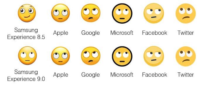 Samsung Android Oreo Vs Nougat Emojis