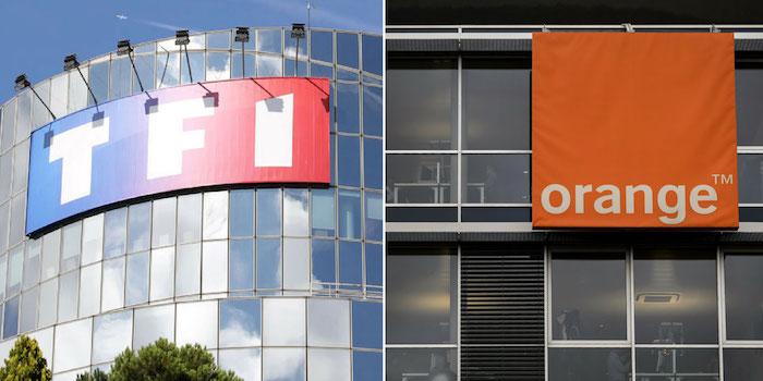TF1 Orange Logo