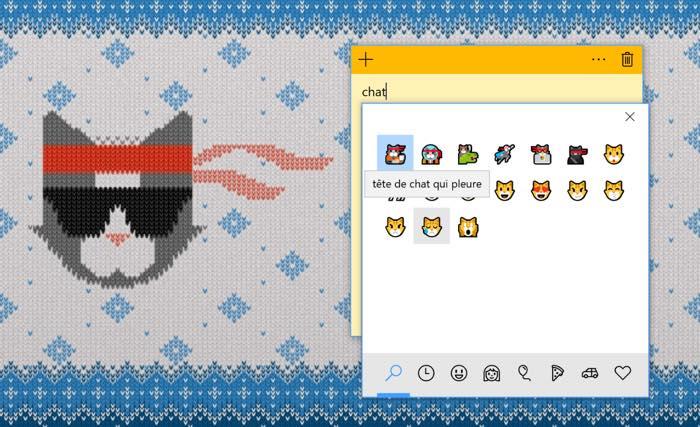 Windows 10 Recherche Emojis Francais