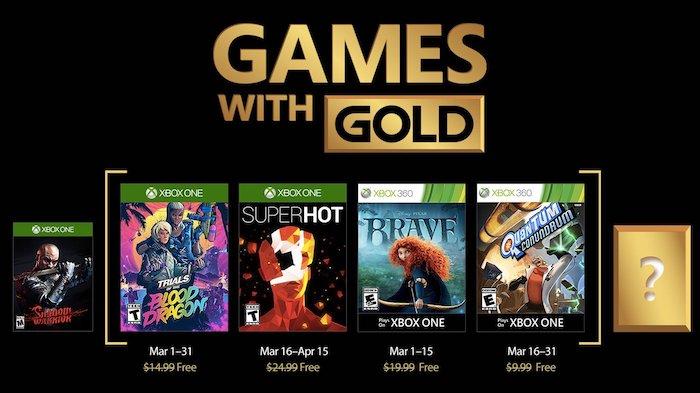 Xbox Live Gold Jeux Offerts Mars 2018