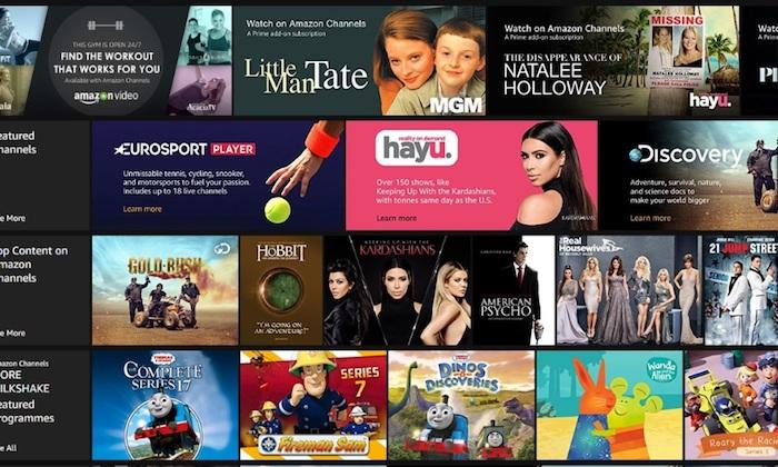 Amazon Channels Royaume Uni