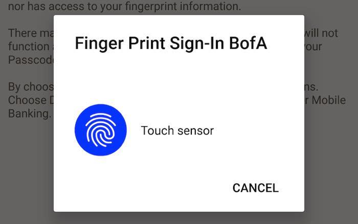Android P Interface Capteur Empreinte