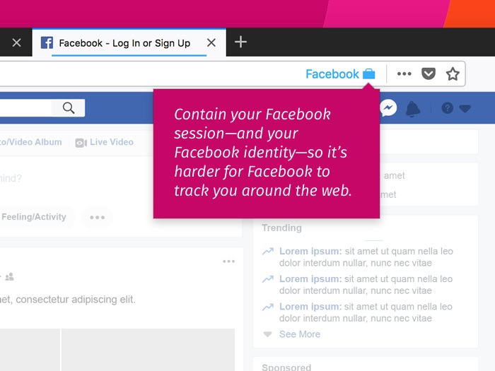 Facebook Containers Extension Firefox