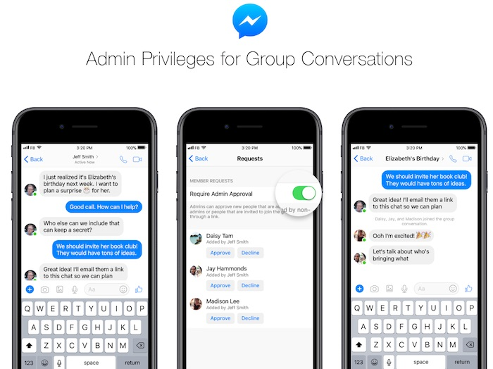 Facebook Messenger Statut Administrateur