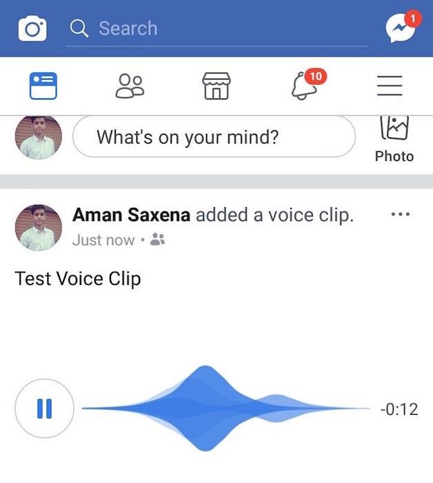 Facebook Statuts Messages Audio 1