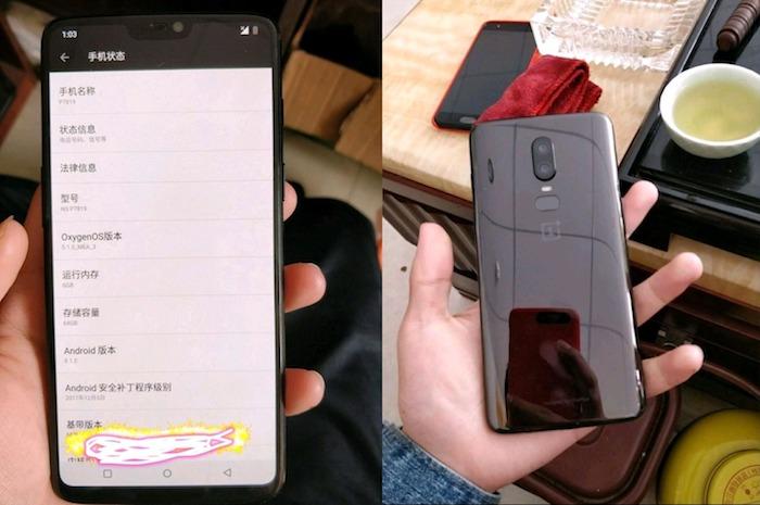 Fuite Prototype OnePlus 6