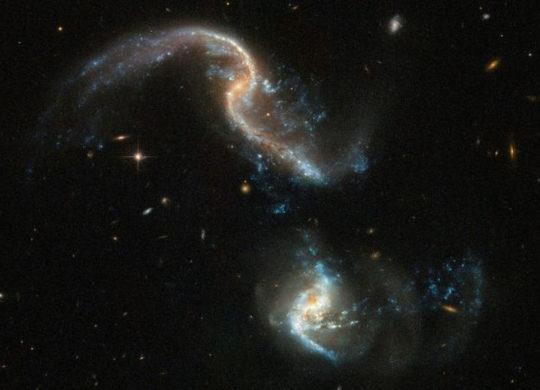Galaxies en fusion