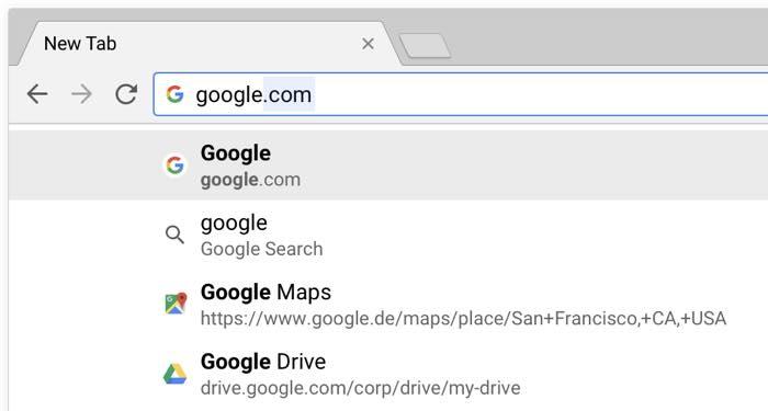Google Chrome 65 Favicons