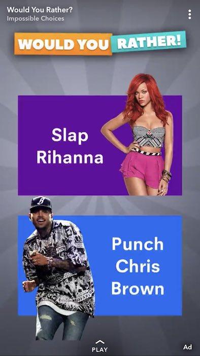 Publicite Gifler Rihanna Snapchat